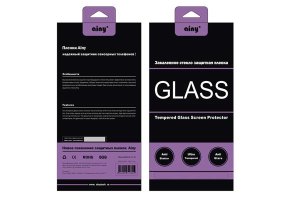 Защитное стекло Ainy для Meizu M2 Mini 0.33мм, глянцевое
