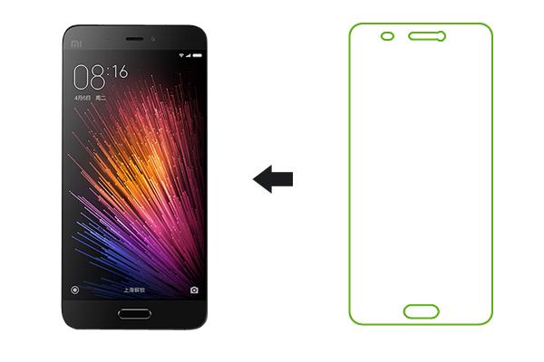 Защитное стекло Ainy для Xiaomi Mi5 0,33мм, глянцевое