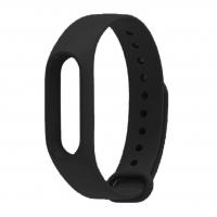 Ремешок силиконовый для фитнес трекера Xiaomi Mi Band 2, черный