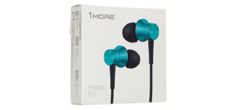 Наушники 1MORE E1009 Piston Fit In-Ear Headphones, бирюзовые