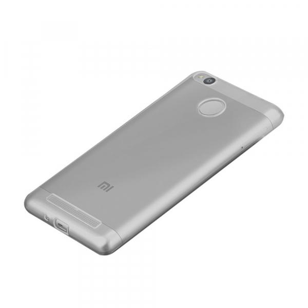Чехол силиконовый для Xiaomi Redmi 3 Pro/ Redmi 3S в техпаке, серый