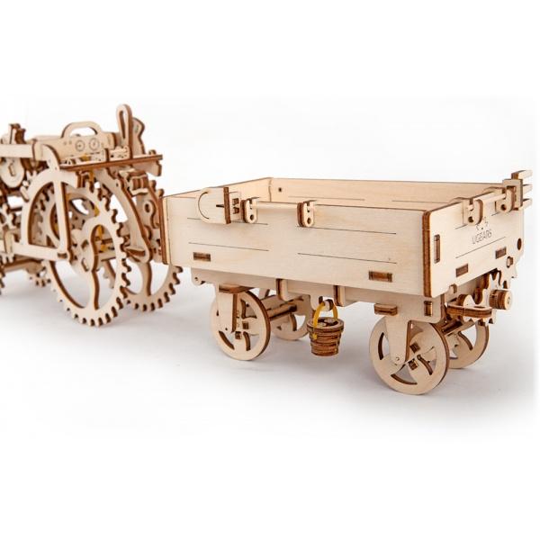 Механический 3D-пазл UGears Прицеп к трактору
