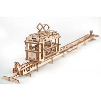 Механический 3D-пазл UGears Трамвай с рельсами