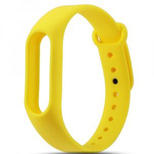 Ремешок силиконовый для фитнес трекера Xiaomi Mi Band 2, желтый